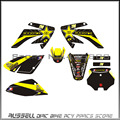 3M CRF70 GRAPHICS KIT ROCKSTAR decals Sticker for Honda MOTO Dirt Pit Bike Parts CRF70 YELLOW&BLACK