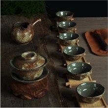 Vintage Style Gongfu Tee-Set Chinesische Teekanne Teetassen Gaiwan Tee-Set, Keramik Kaffee Tee Service, Trinkbehälter Kaffee & tee-Sets, 8 stücke