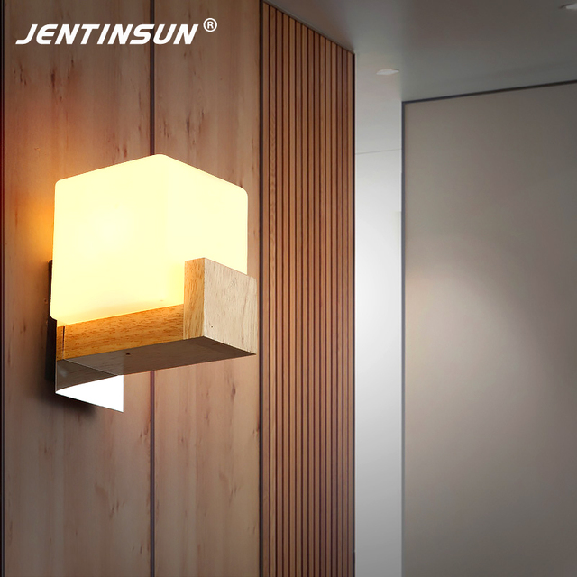 Luxus Schlafzimmer Holz Wandleuchte Nordischen Stil Japanischen Montiert  Wandleuchte LED Lampen Für Wohnzimmer Gang Treppe Nachtwandleuchten