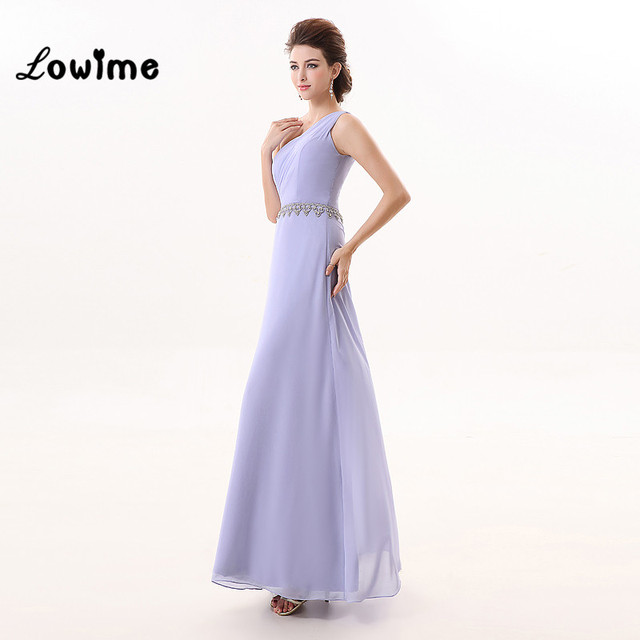 Muslim Sexy Long One Shoulder Lavender Color Prom Dress For ...