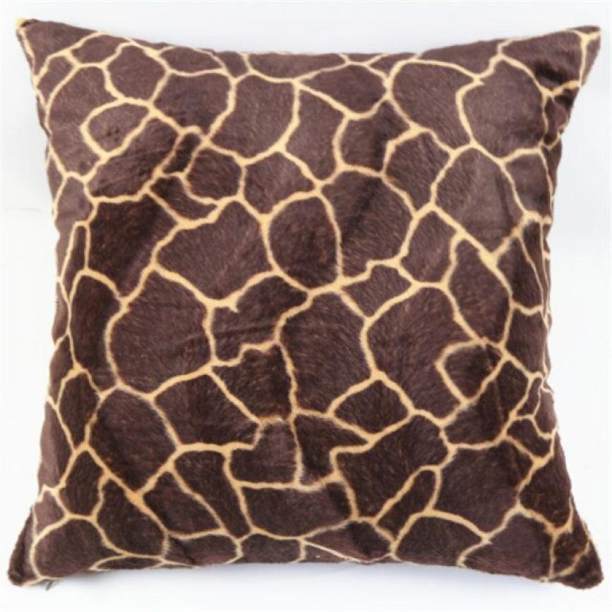 Animal Zebra Leopard Print Pillow Sofa Waist Throw Cushion Cover Home  Decor(China (Mainland