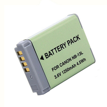1x 1250mAh NB-13L NB 13L NB13L Digital Camera Battery for Canon PowerShot G5 X G5X G7 X Mark II G7X G9 X G9X SX720 HS Batteries