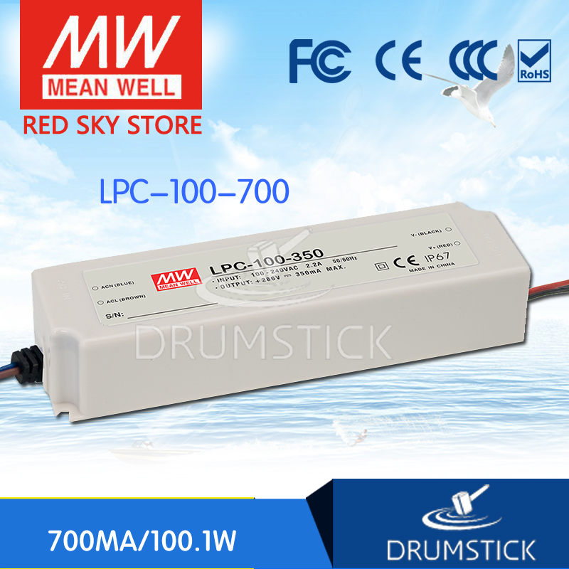Best-selling MEAN WELL LPC-100-700 143V 700mA meanwell LPC-100 143V 100.1W Single Output LED Switching Power Supply best selling mean well se 200 15 15v 14a meanwell se 200 15v 210w single output switching power supply