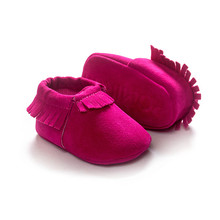 Moccasins rose color baby girl shoes for baby first walkers bx163