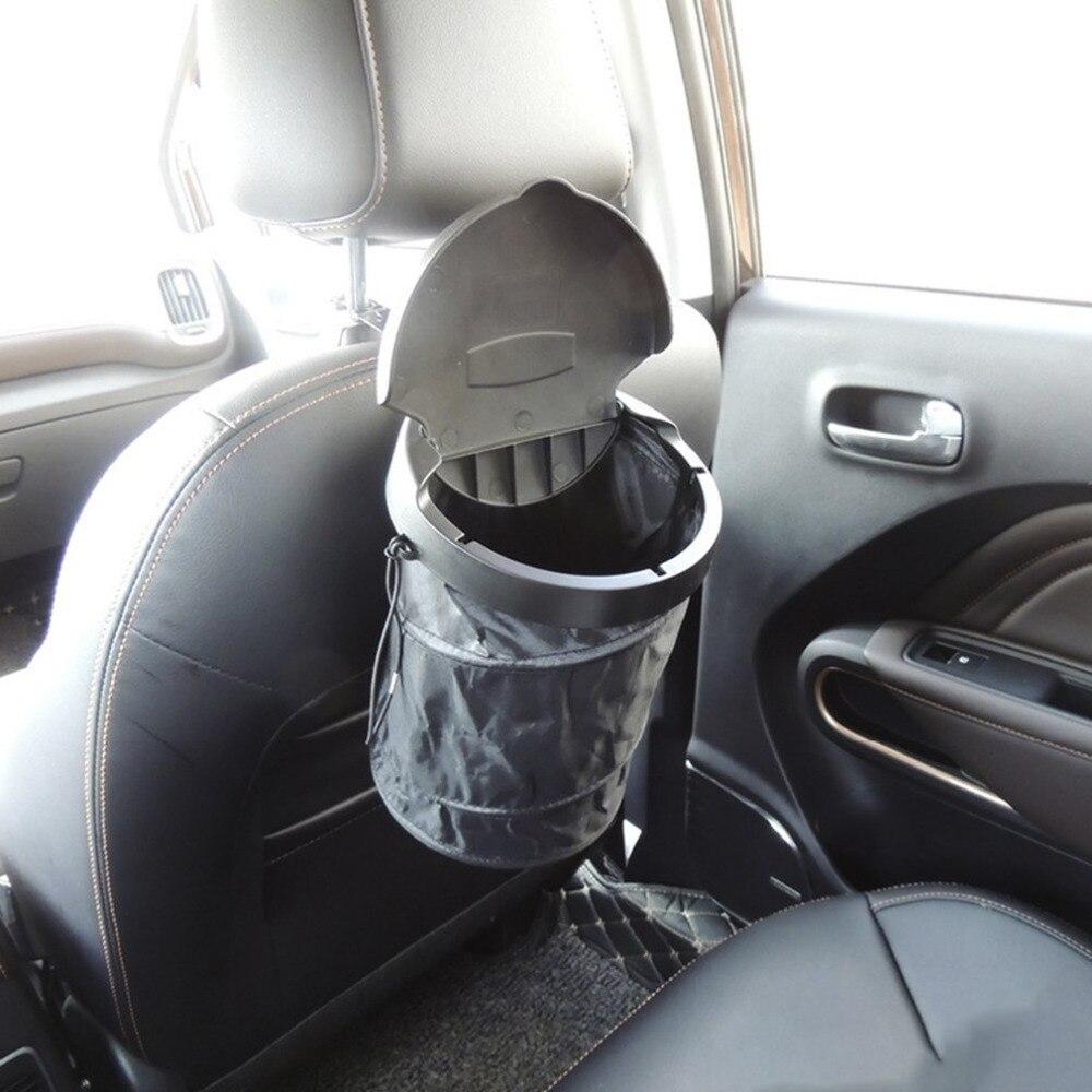 Foldable Design Car Auto Garbage Can Trash Can Leakproof Foldable Trash Bin Car Organizer Supplies
