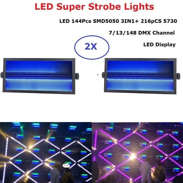 High Quality 144PCS RGB 3IN1 SMD 5050 LED Super Strobe Lights 216PCS 5730 White Color Disco DJ Nightclub Show Stage Lighting