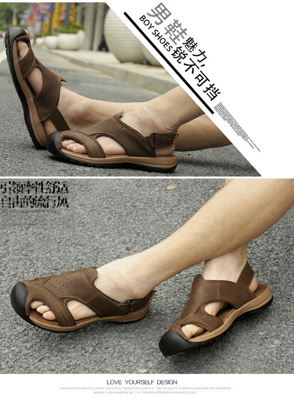 Leather Sandals Van Camel Velcro Wred Head Men Sport Eu38 44 Best Prices In Women S From Shoes On Aliexpress Alibaba Group