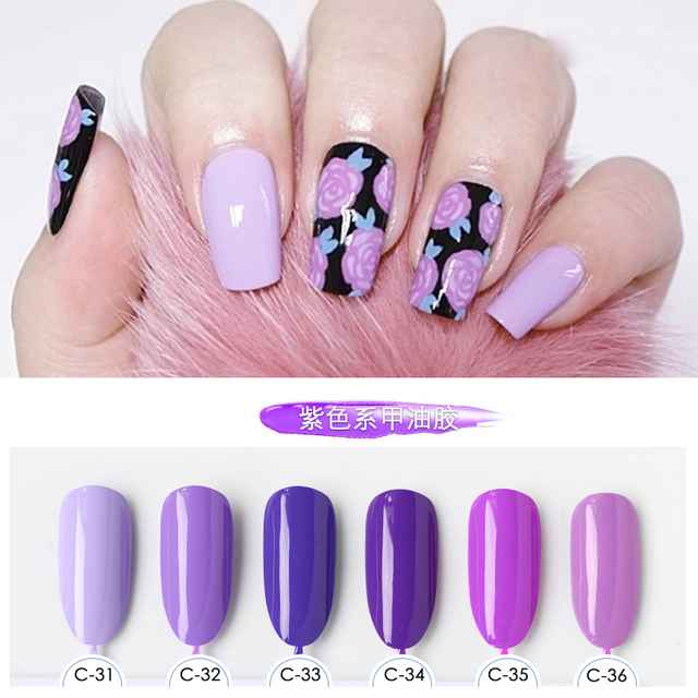 Formaldehyde Free Nail Art Design Manicure 6 Colors 15ml Soak Off
