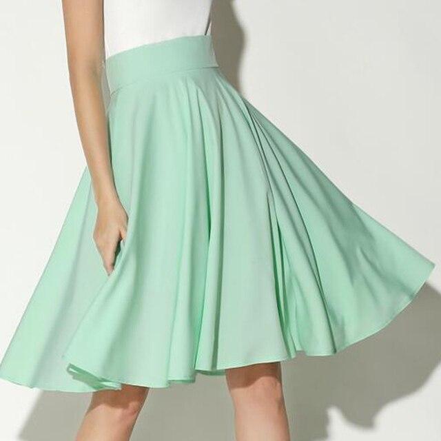 Black White Midi Skirts Womens Summer High Waist Pleated Skirt Skater Vintage Saia Feminina Jupe Longue Femme Plus Size Skirt 3
