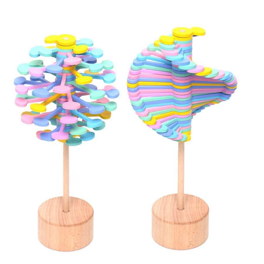 Brillant Rotierenden Lollipop Zauberstab 3d Holz Spielzeug Stress Relief Diy Kreative Kunst Dekoration Büro Dekompression Junge Mädchen