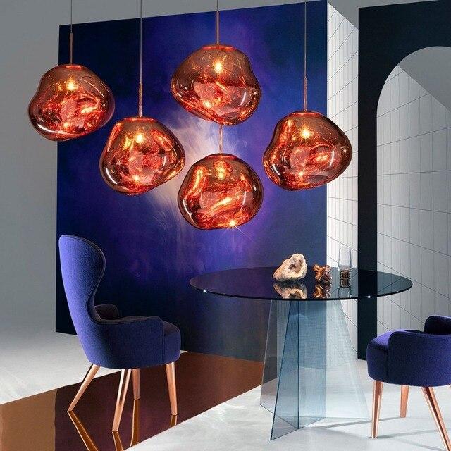 The new hot Art Lava Pendant Lights Irregular shaped glass Hang Lamp Pendant lamp for droplight Restaurant/bar/ coffee shop Pendant Lights