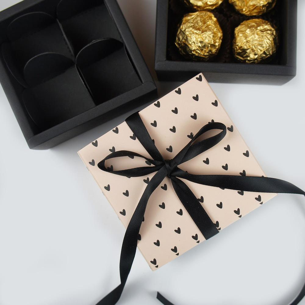 8.9*8.9*3.5CM Heart Love 10 Set Chocolate Paper Box Valentine's Day Christmas Birthday Party Gifts Packing Storage Boxes Use