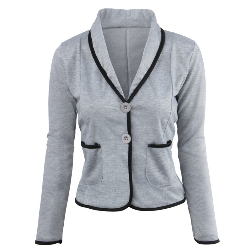 Mr.Nut Women's Jacket Casual Slim Small Suit Temperament Commuter Office Solid Color Lady Blazer