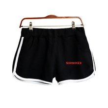 цена LUCKYFRIDAYF Kpop Monster X Shorts Women Casual Cotton Short Femme Contrast Elastic Waist Shorts Fast Drying Drawstring Clothing в интернет-магазинах