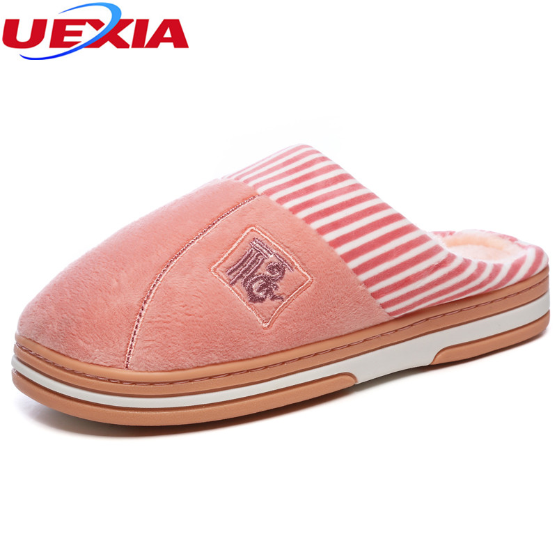UEXIA Women Shoes Home Slipper For Indoor House Bedroom Flats Comfortable Warm Winter Warm Soft Christmas Gift Cotton Breathable b i m cute bowknot warm winter women home slippers for indoor house bedroom plush shoes soft bottom flats christmas gift z133