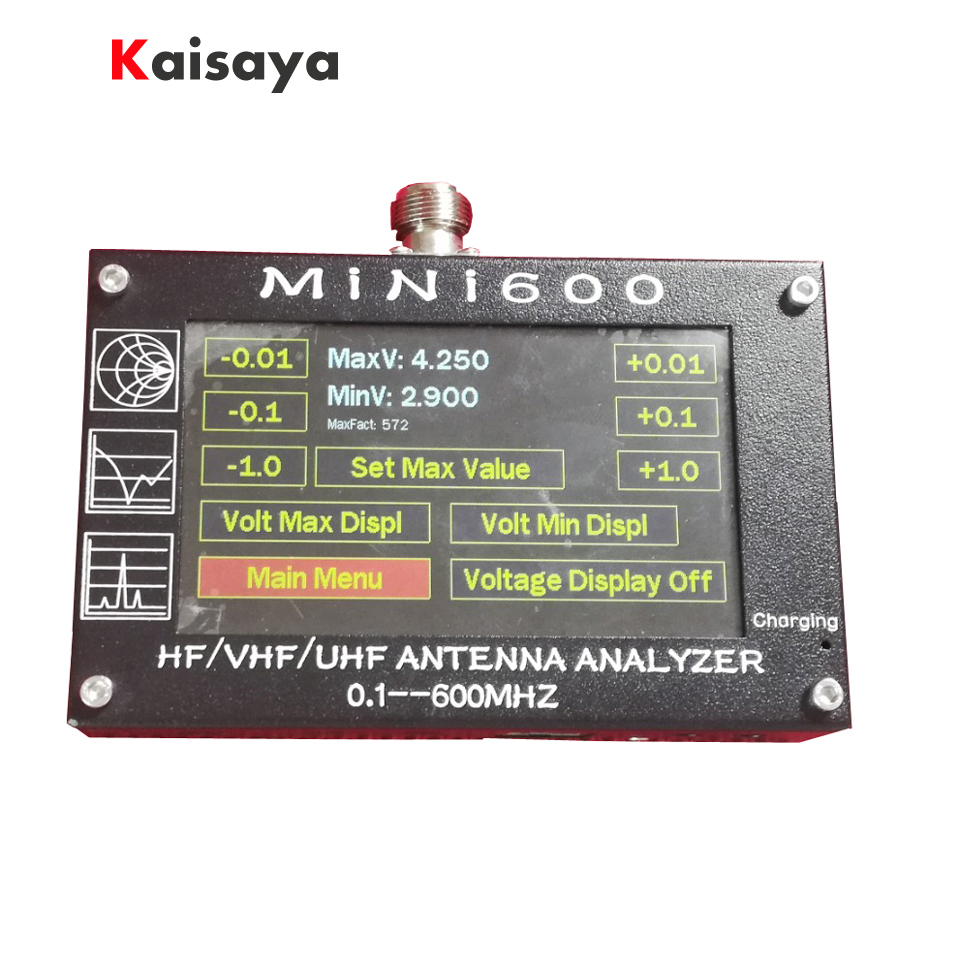 Nuovo arrivo Mini600 5 v/1.5A HF Analizzatore di Antenna 0.1-600 mhz VHF UHF SWR Meter 1.0- 1999 Per La Radio