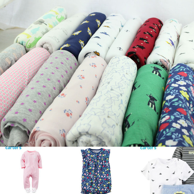 c015d7a18a4 Stretch printed cartoon knitting jersey cotton fabric printing cute baby  clothing making cotton fabric 50*170cm