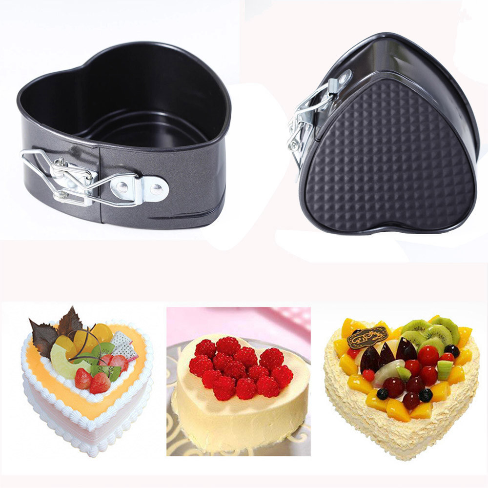 Stainless steel Baking Mold Non-Stick Love Heart Shape Cake Pan Tin DIY Cake Mold Baking Cheese Bread Tray Kitchen baking#H