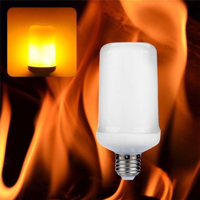 E27 E26 E14 B22 LED Flame Effect Fire Light Bulbs 6.5W Creative Lights Flickering Emulation Vintage Atmosphere Decorative Lamp