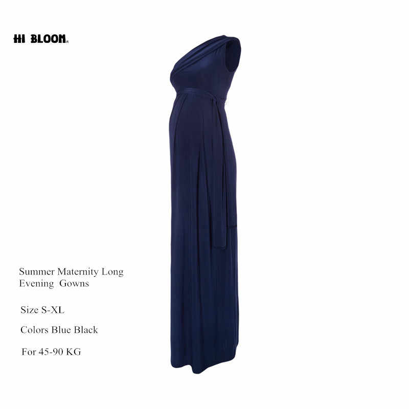 fa8a17a593de5 ... Long Maternity Maxi Dresses Maternity Clothes Elegant Evening Dress For  Pregnant Women Pregnancy Gown Office Lady ...