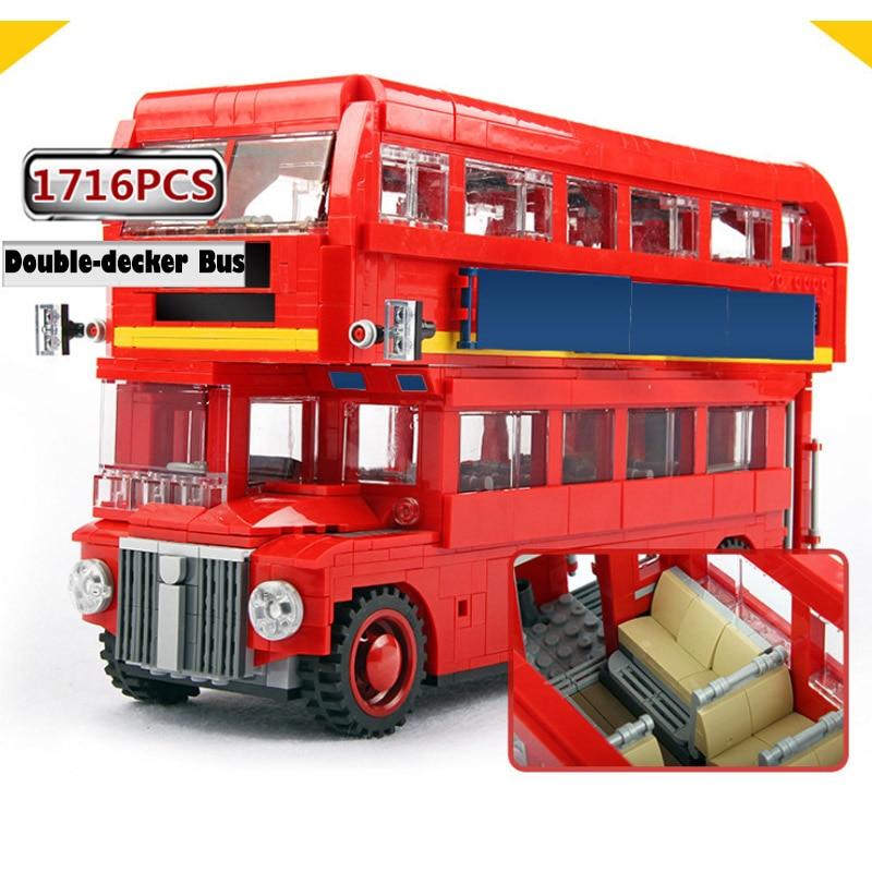 Bela 10775 Créateur Royaume-uni Grande-Bretagne Londres Double-Decker Bus 10258 Blocs de Construction Briques Jouet Compatible Avec Legoings