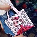 Fashion folding bag Lattice cartoon style women bag