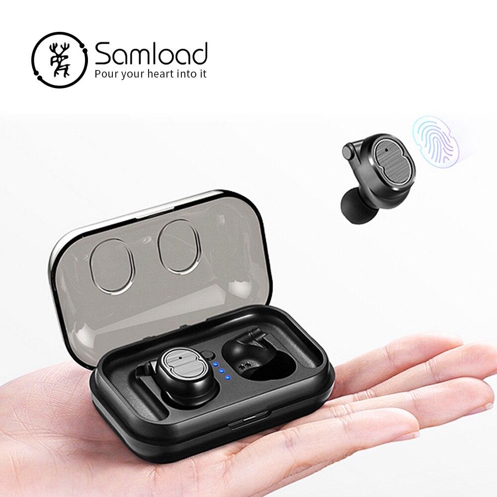 Samload Esporte Aptidão À Prova D' Água Sem Fio Bluetooth 5.0 Fones De Ouvido fone de Ouvido Fones De Ouvido Para O iPhone Da Apple 6 7 8 Xiaomi Huawei Sony