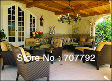 Mixed Rattan Indoor Dining Set And Indoor Sofa Set