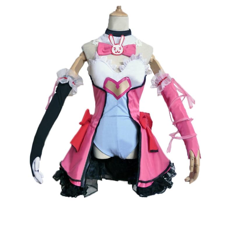 Здесь продается  DVA Cosplay D.VA Game OW Kawaii Girl Pink Dress Costume Magic Girl D.va Cosplay Dva Costume Women  Одежда и аксессуары