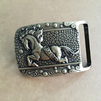 Retail New Style Solid Brass 3D Horse Cowboy Belt Buckle With Fashion Men S Women S
