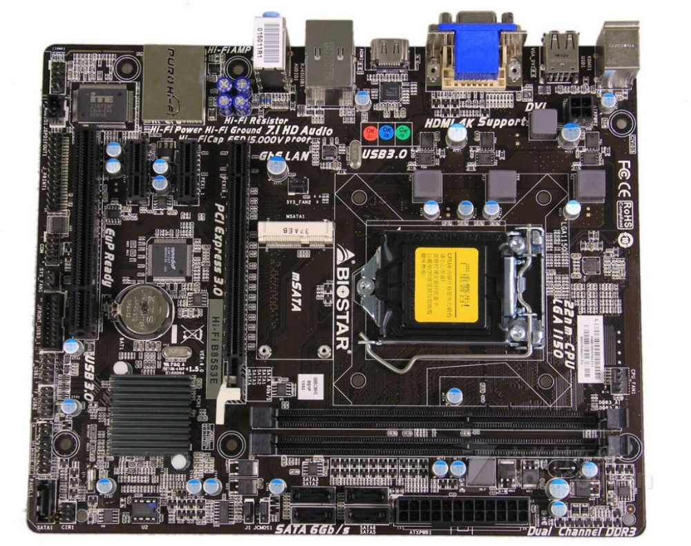 BIOSTAR original desktop motherboard Hi-Fi B85S3E DDR3 Socket LGA 1150 motherboard Solid-state integrated free shipping цена