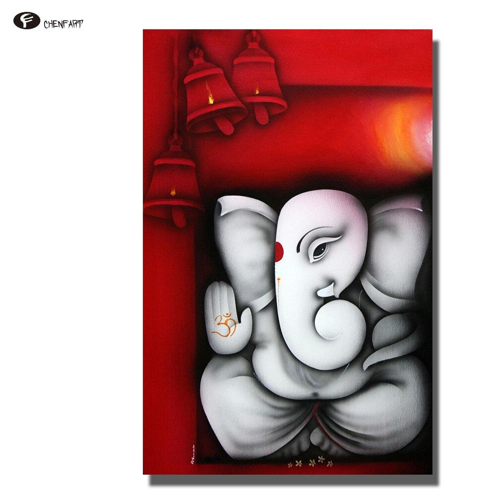 CHENFART Leinwand Malerei Ganesha Buddha Wandkunst Bilder für ...