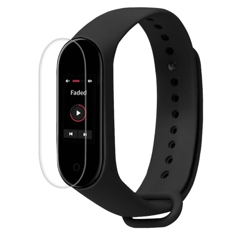 Screen-Protector-Film Bracelet Coating-Materials Mi-Band Water-Resistant Xiaomi for Curved-Edges
