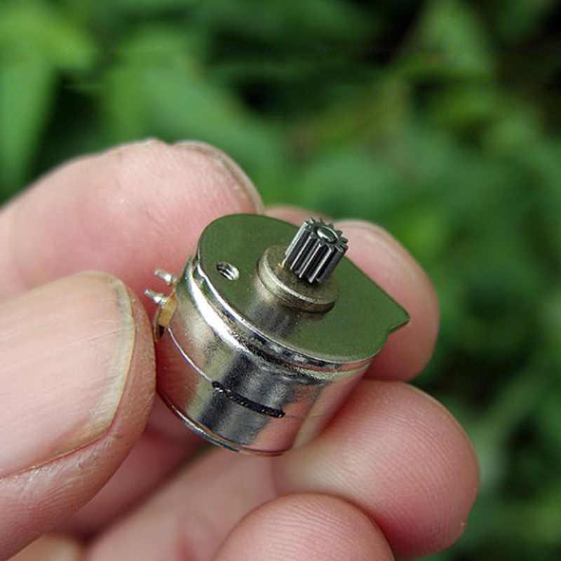 15by25 diâmetro 15mm 2 fase 4 fio micro motor deslizante 18 graus mini stepping motor engrenagem de cobre diy câmera