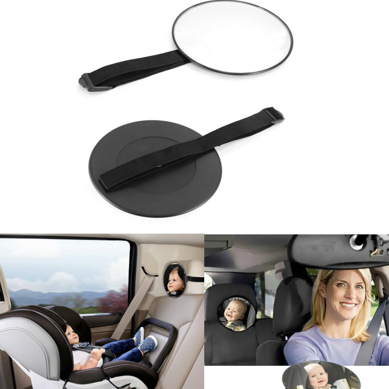 1 Car Safety Easy View Back Seat Mirror Baby Facing Rear Ward Child Infant Care Square Safety Baby Kids Monitor Car Accessories