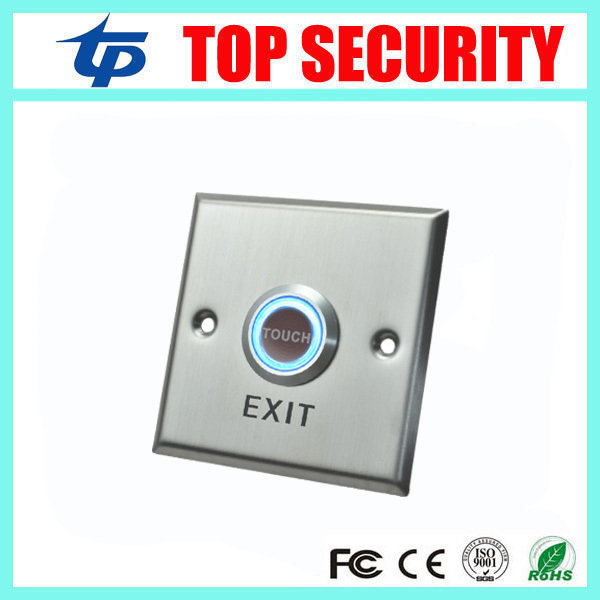 Access Control Exit Button Stainless Steel Exit Switch Door Release Push Exit Door Opener Door Lock System Touch Exit Button lpsecurity stainless steel door access control led backlit led illuminated push button door lock release exit button switch