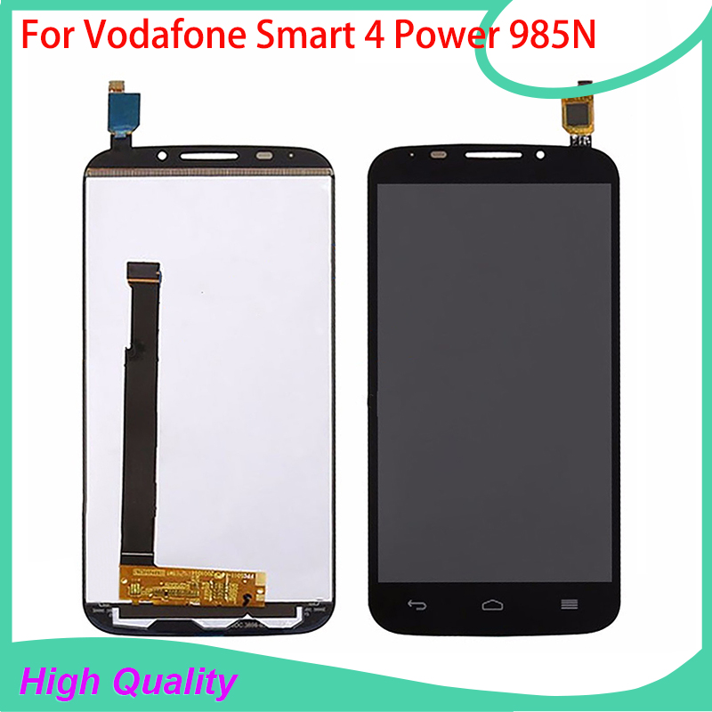 ФОТО For Vodafone Smart 4 Power 985N 985 VF-985 LCD Display Touch Screen Digitizer Assembly High Quality Mobile Phone LCDs
