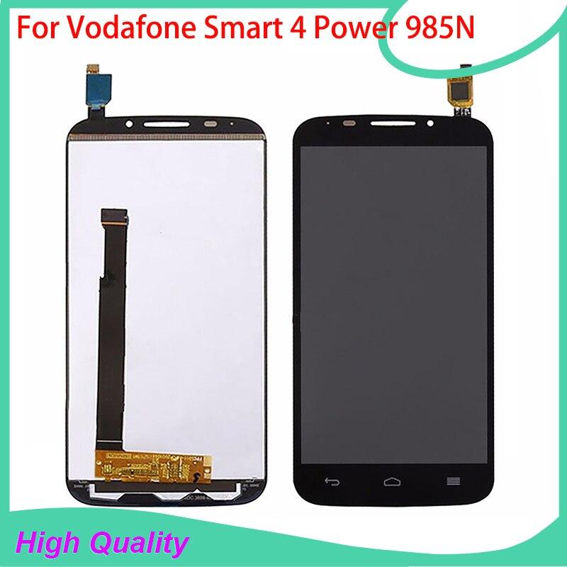 Para vodafone smart 4 power 985n 985 vf-985 pantalla lcd táctil asamblea digital