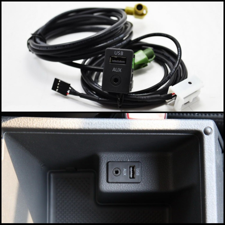 RCD510 310 300 RNS315 AUX USB Switch Cable FIT VW MK6 Golf