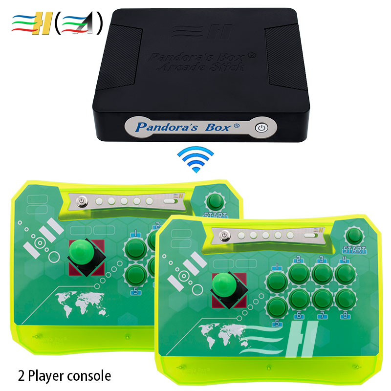 Arcade Controller 2 Players Fighting Game Stick Built in Pandora Box 4S+ 815 PS3 XBOX360 PC Pandora's Box Wireless Arcade Stick pandora box arcade fighting game ultimate marvel vs capcom 3 ps3 games video game arcade kit for coin acceptor arcade machine