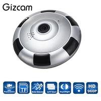 Wireless WiFi HD 360 Degree Fisheye Panoramic IP Camera IR Night Vision