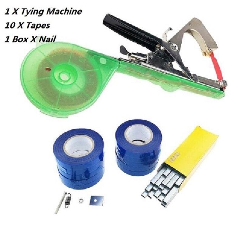 20pcs/lot Plant Branch Tapetool Tapener+Tapes Garden Tools +10000pcs Nail, Garden Hand Tying Binding Flower Vegetable Machine
