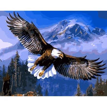 WEEN Eagle DIY Painting By Numbers, Canvas Painitng, Home Wall Art Picture, Coloring By Numbers For Home Decor 40x50cm royaldream sexy woman diy painting by numbers canvas painitng home wall art picture coloring by numbers for home decor