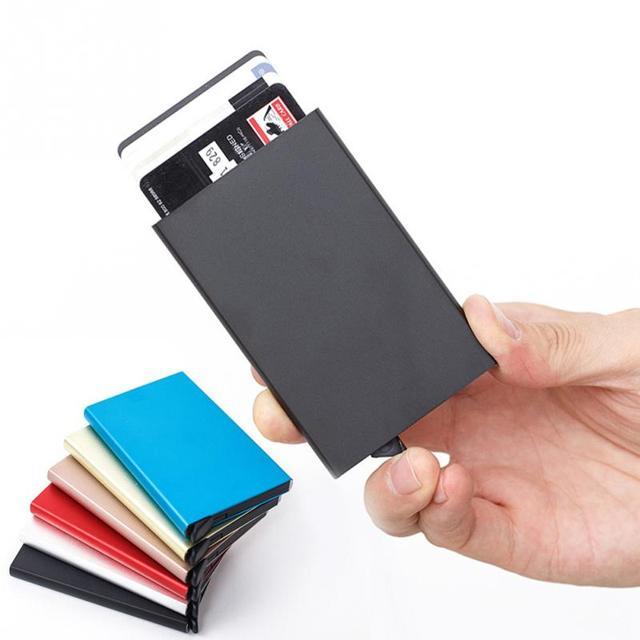 Aluminium Alloy Anti Rfid Blocking Bank Card Holder ID Bank Card Case Rfid Protection Metal Credit Card Holder