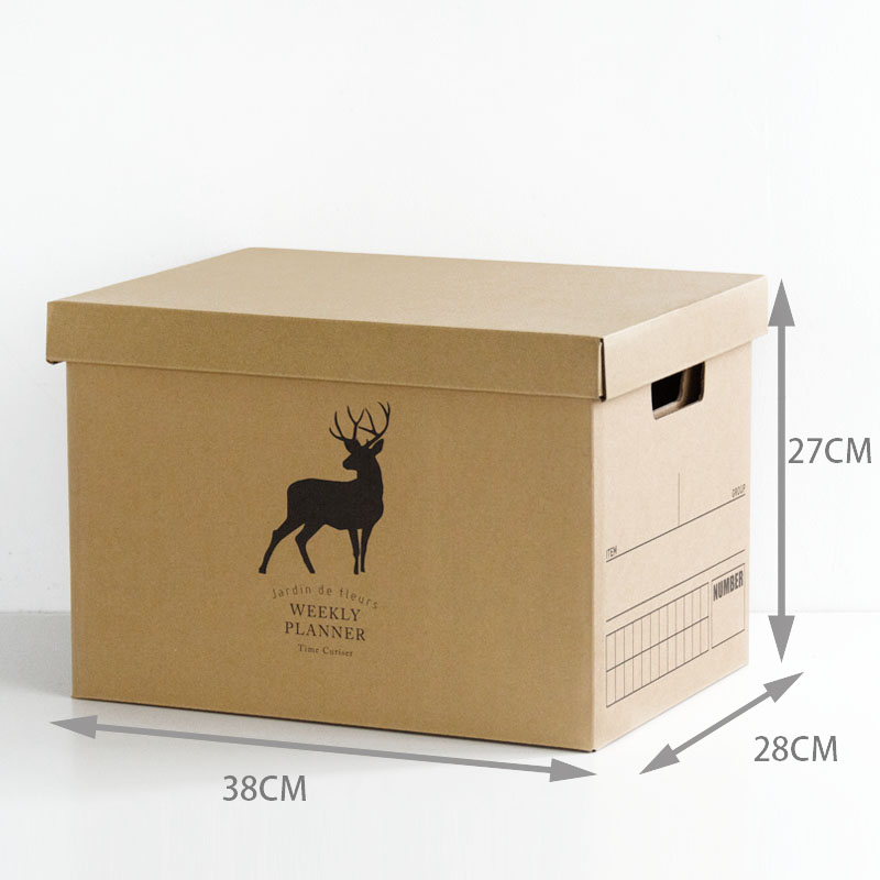 Letter Size File Box Decorative Storage Box With Lid Collapsible And
