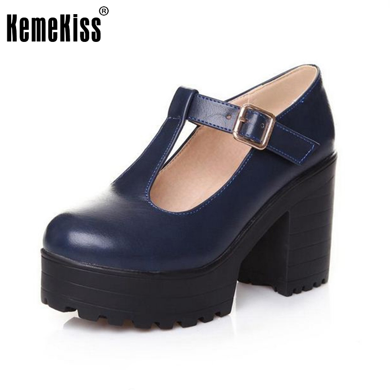Big size 34-46 2016 New arrival Autumn winter Shoes woman Ankle boots Female fashion bootie Buckle High heel Platform Retro Cool big size 34 43 vintage thick high heels platform ankle boots female fashion shoes woman buckle charm lace up fall winter boots