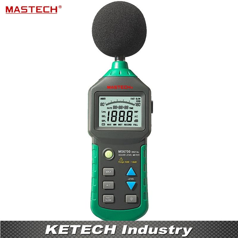 MASTECH MS6700 Auto Range Digital Sound Level Meter Tester 30 db to 130dB mastech ms6701 auto range digital sound level meter decibel tester 30db to 130db with usb data acquisition