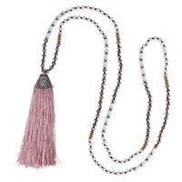 C. QUAN CHI Trang Sức Đẹp Dài Tassel Pendant Necklace Handmade Pha Lê Hạt Strand Dài Vòng Cổ Quyến Rũ Chuỗi Cho Phụ Nữ quà tặng