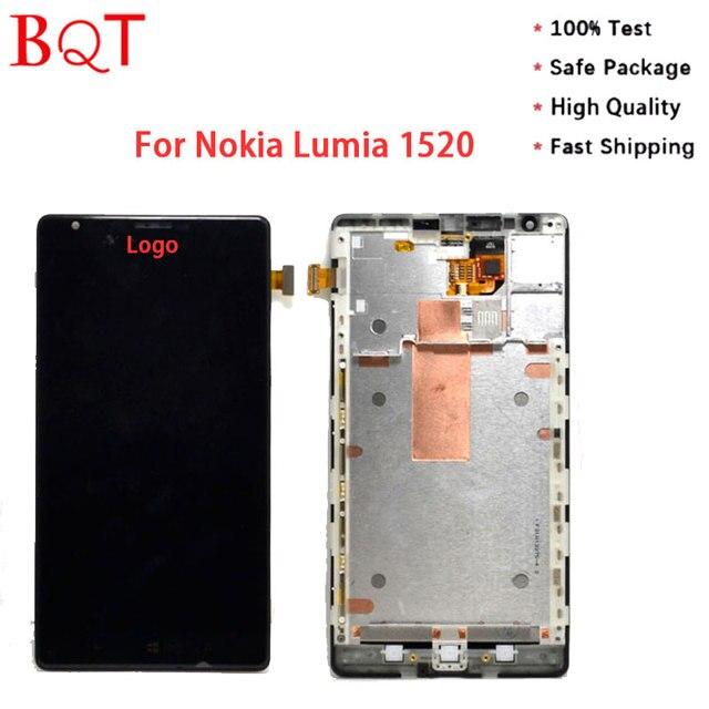 Loja de tela para nokia lumia 1520 lumia 1520 bqt screen display lcd e touch screen digitador assembléia com frame