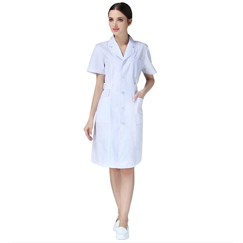 Ladies Medical Robe Medical Lab Coat Hospital Doctor Slim Multicolour Nurse Uniform Medical Gown Overalls 2019